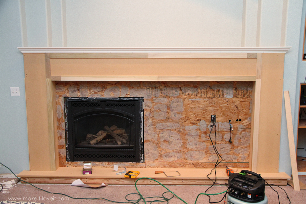 wrap around fireplace mantel. Be sure to create side pieces that wrap around the corner of your mantel  Home Improvement Build own Fireplace Mantel Hearth