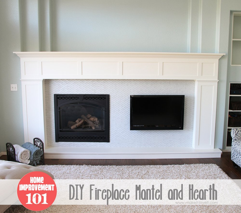 Home improvement build your own fireplace mantel hearth for Design your own fireplace