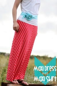 Turn a Maxi Dress...into a Maxi Skirt {in MINUTES!!}