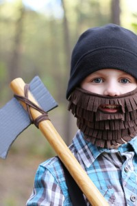 Halloween Costume Ideas: Lumberjack with Beard and Axe