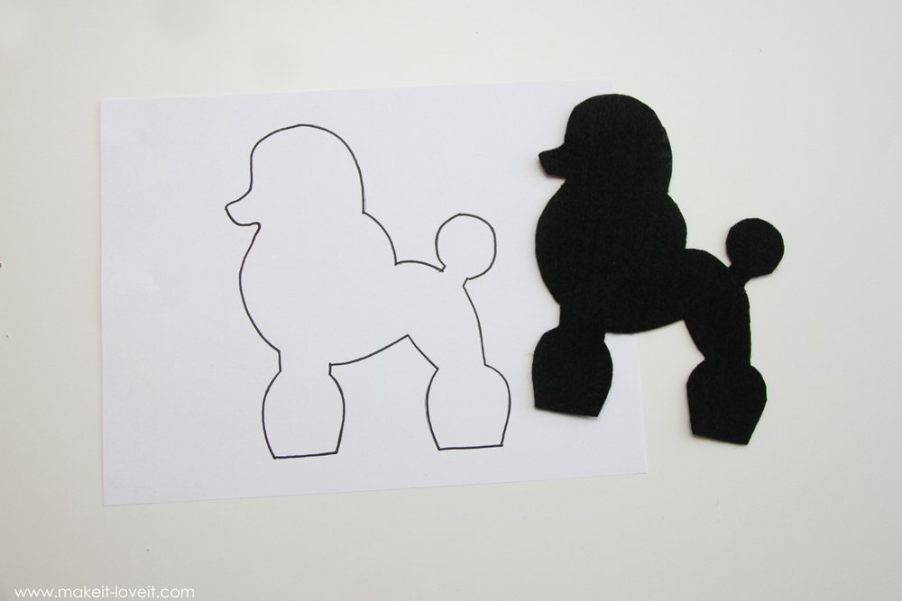 Halloween costume ideas very low sew poodle skirt make for Poodle skirt applique template