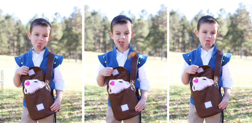 flynn rider costume faces