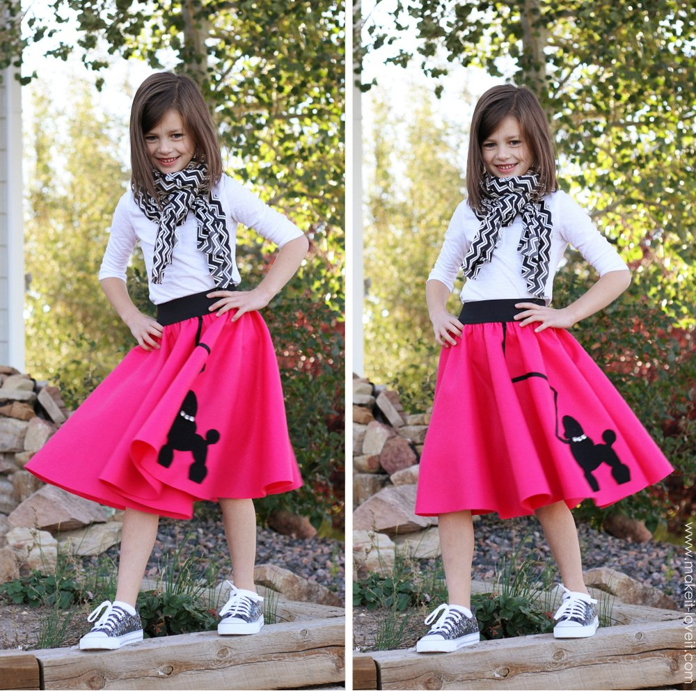 low sew poodle skirt