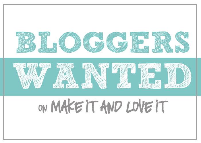 Bloggers WANTED…….want to join in on the fun??