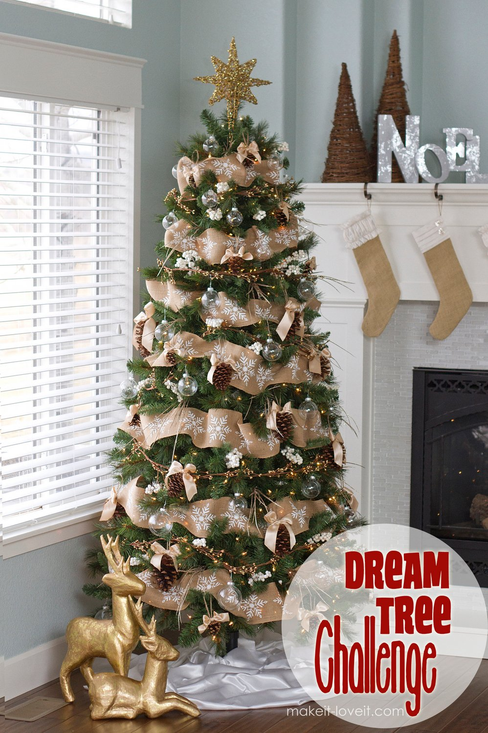 Pine cone bow ornament and other dream tree challenge