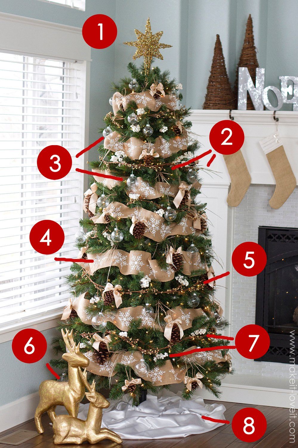 Pine cone bow ornament and other dream tree challenge for Fir cone christmas tree decorations