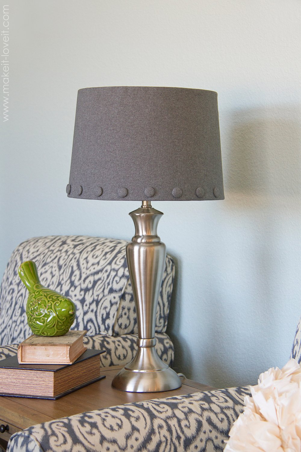 No Sew: Lamp Shade with Cover Buttons | Make It and Love It