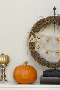 Thanksgiving Wreath...with Burlap Bunting