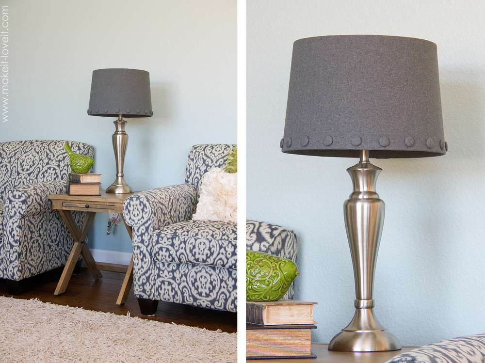 no sew lamp shade