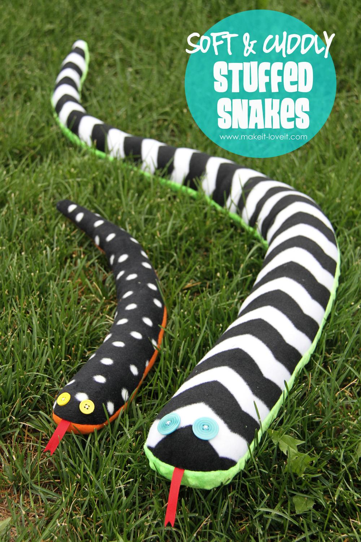 1 stuffed snakes