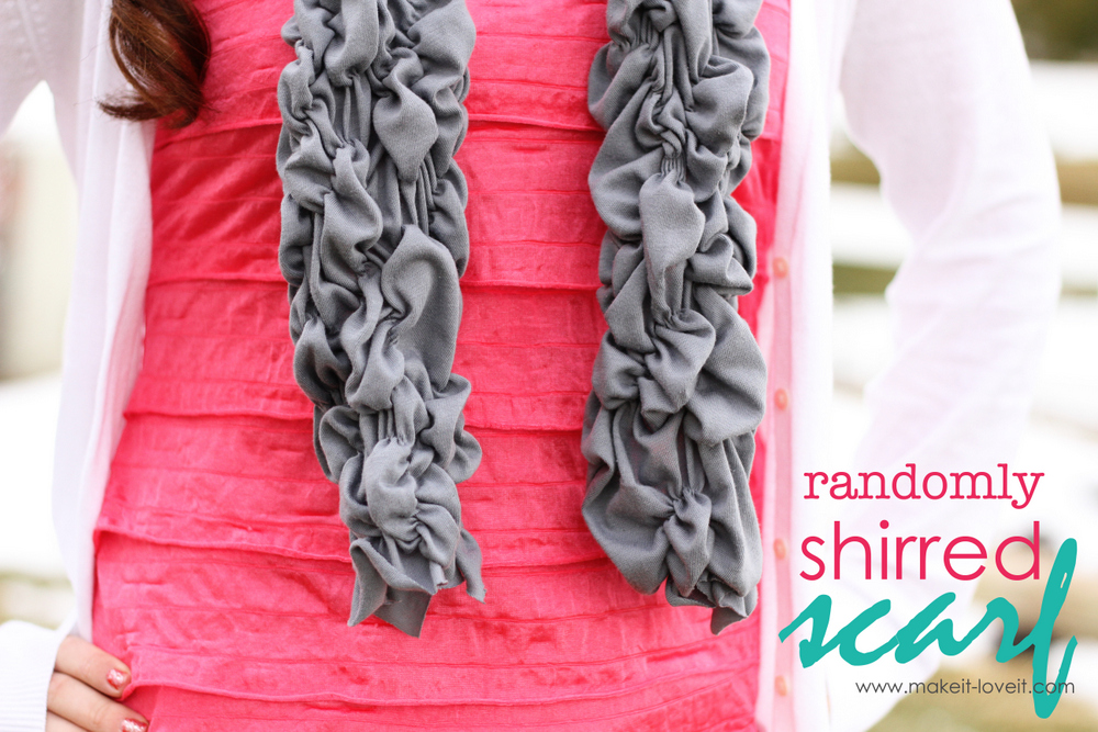 11 shirred scarf