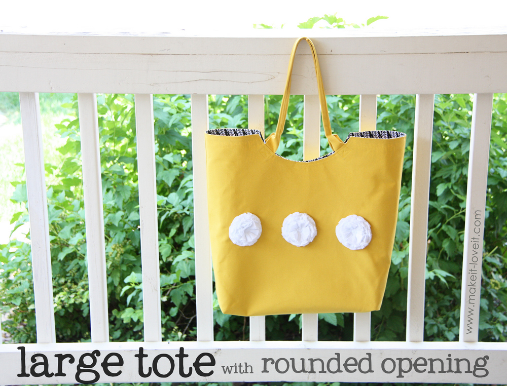 12 tote with rounded opening