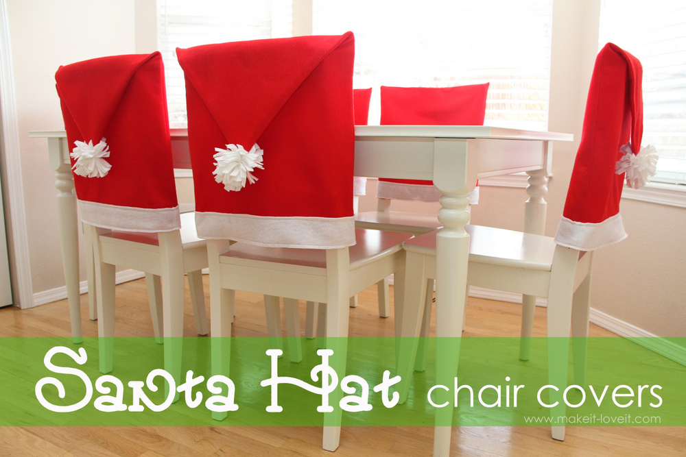 19 santa hat chair covers
