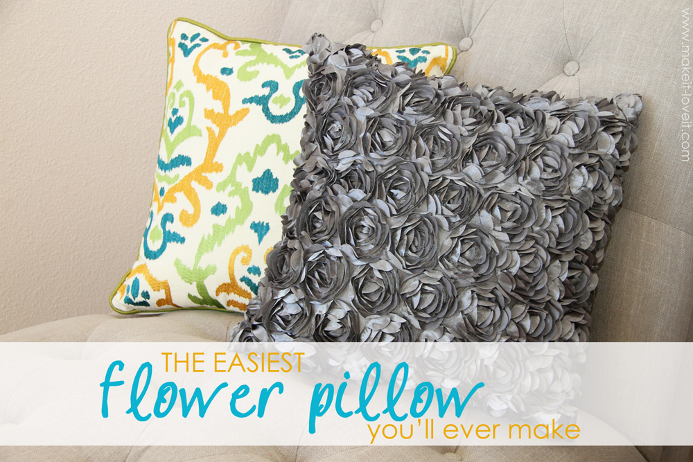 20 simple flower pillow