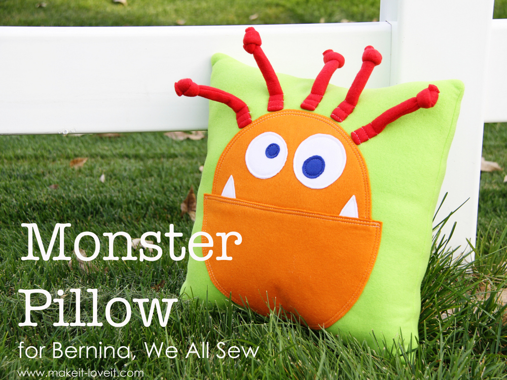 4 monster pillow