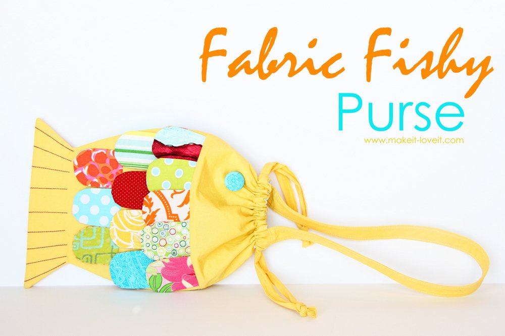 5 fabric fishy purse
