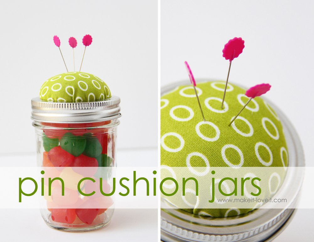9 pin cushion jars