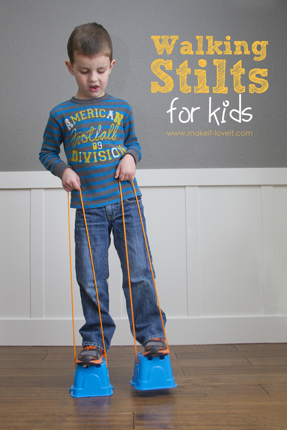 DIY walking stilts for kids 4