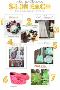 Gift Ideas (from the ARCHIVES) and ALL PDF PATTERNS $3.00 (until Saturday)!!!!