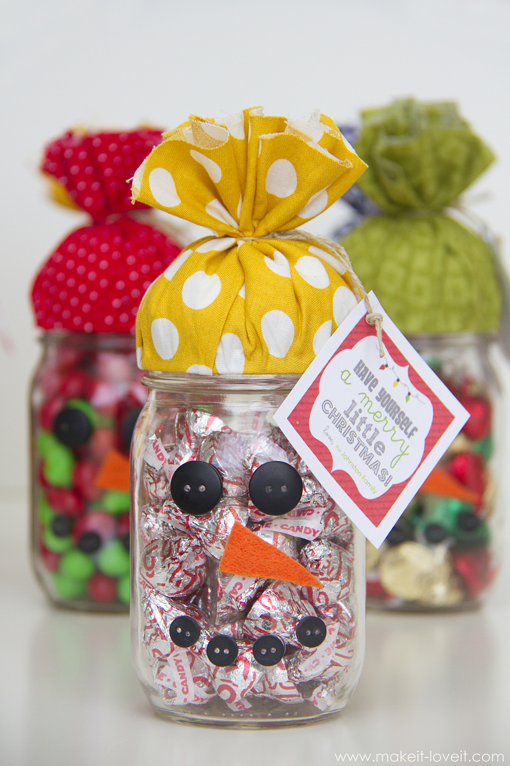 Quick Gift Snowman Candy Jar Plus Free Printable