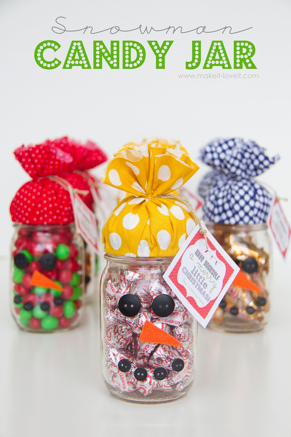 Quick Gift: SNOWMAN CANDY JAR...plus FREE printable ...