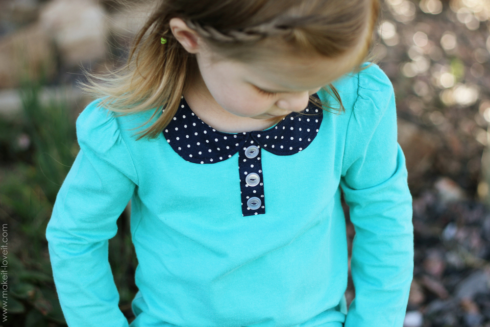 1 attached peter pan collar