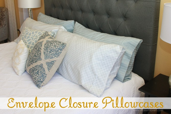 1 envelope closure pillow cases