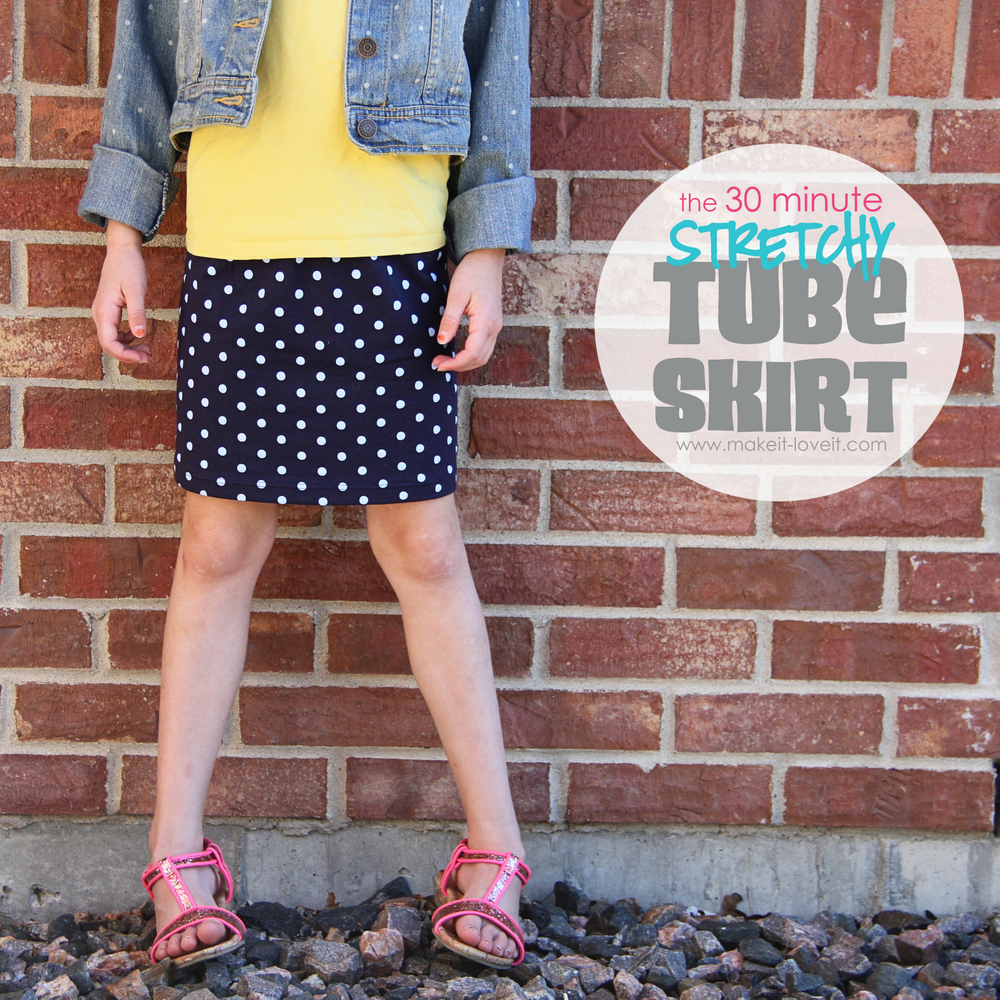1 stretchy tube skirt