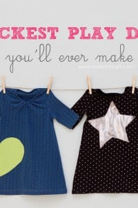 The QUICKEST Toddler Play Dress...you'll ever make!