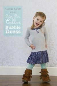 Turn a t-shirt into a 'Peter Pan Collar Bubble Dress'
