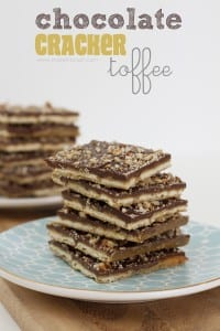 Chocolate Cracker Toffee......sweet and salty.....YUM!