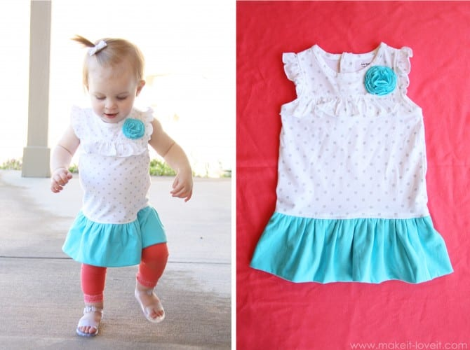chloe onesie into bubble dress