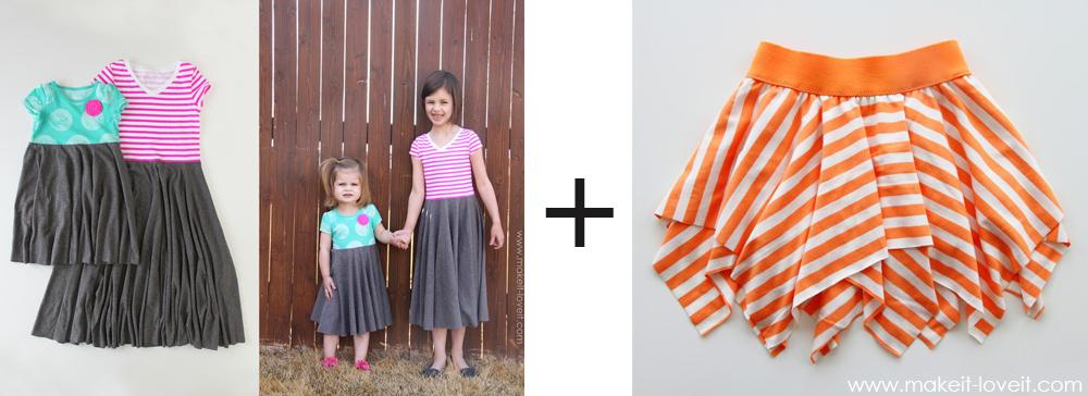 circle dress plus square circle skirt