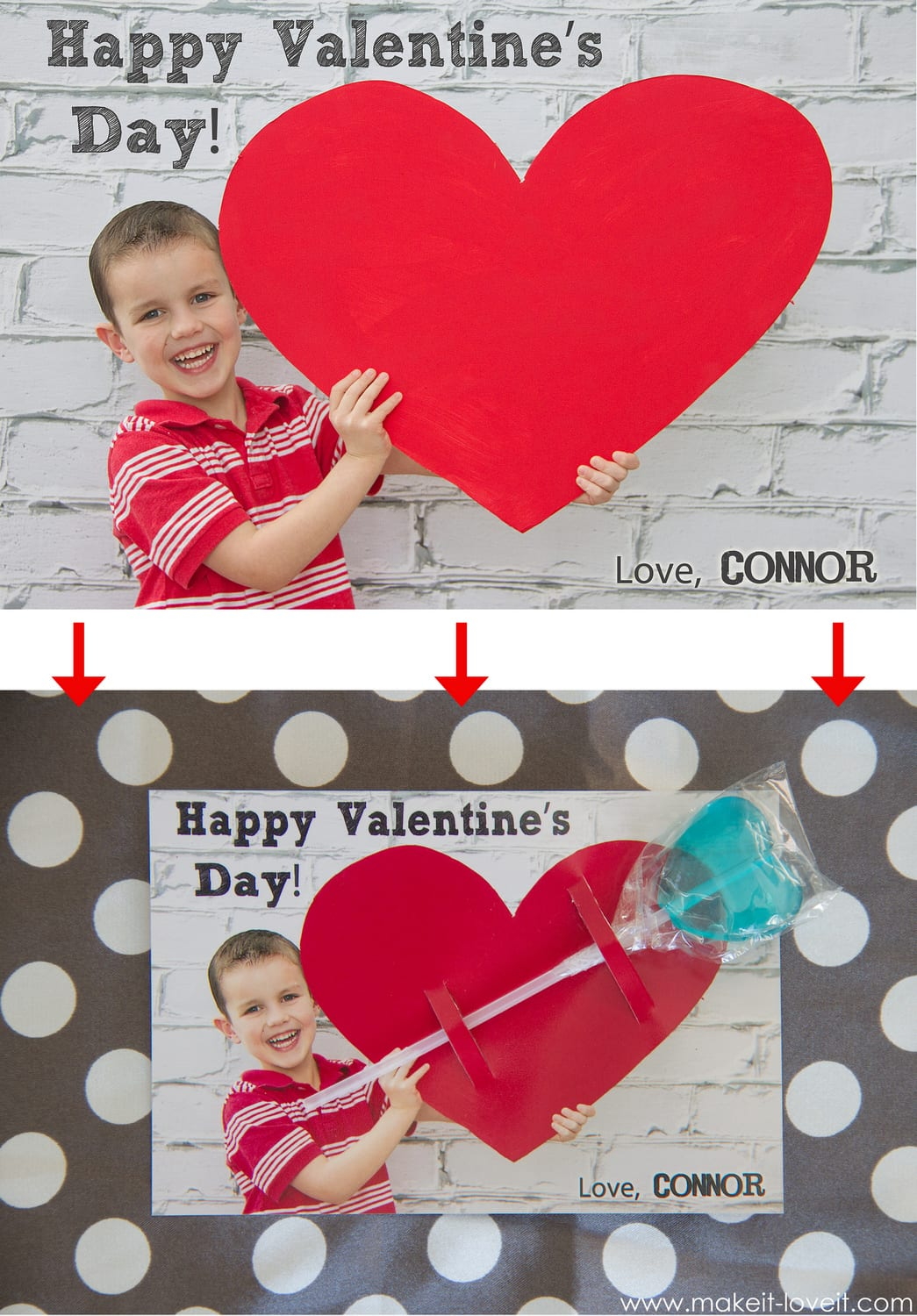 Personalized Valentine Cards...with a little treat! --- Make It and Love It