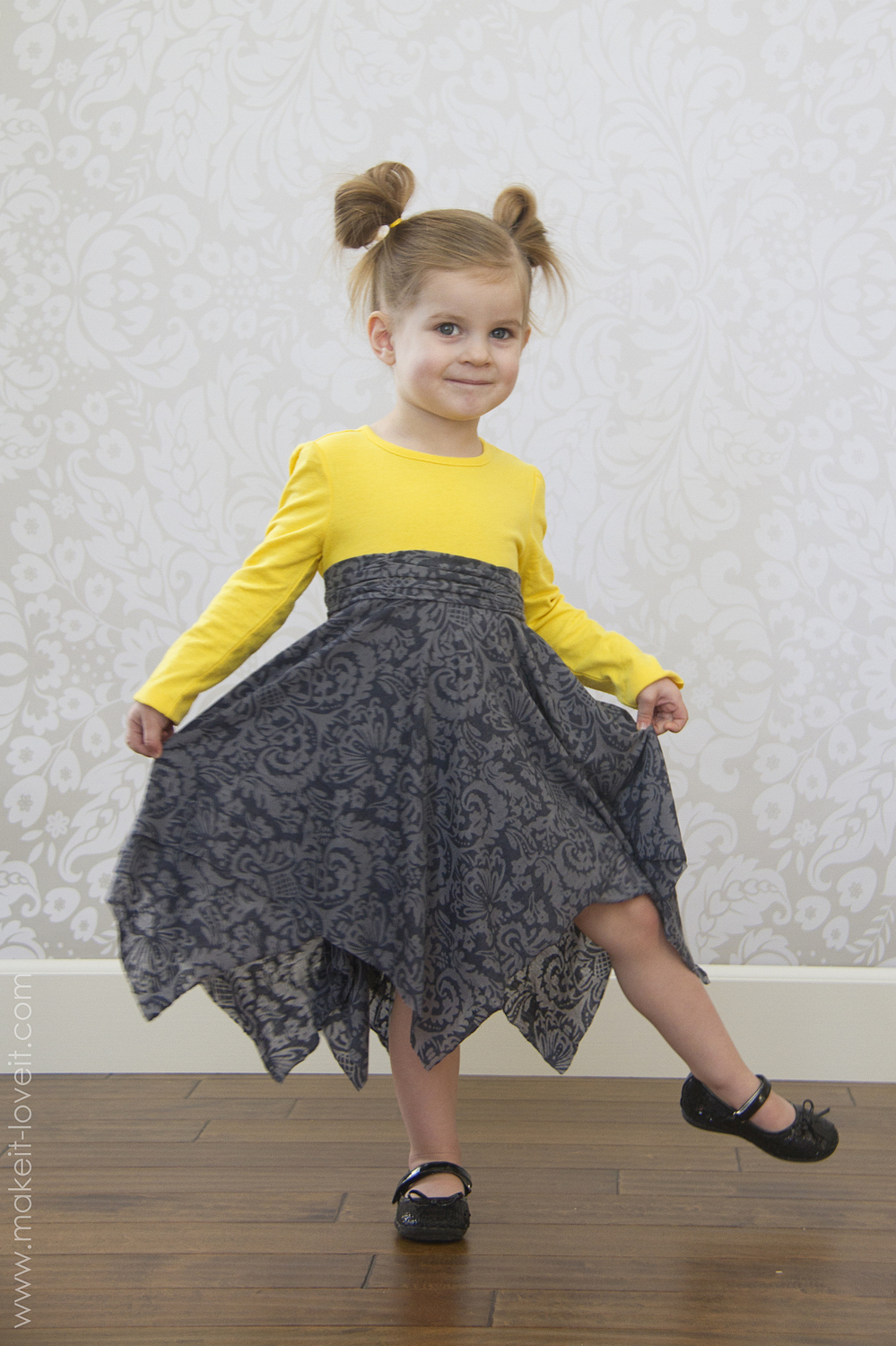 double layer square circle skirt2