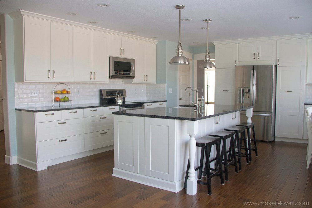 Kitchen Island Knee Space home improvement: adding column supports to counter overhang (plus