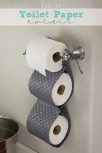 DIY Fabric Toilet Paper Holder