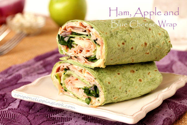 Ham-apple-and-blue-cheese-wrap