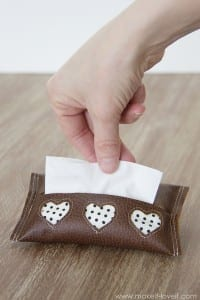 Mini Tissue Holder {{Leather with Cutouts}}