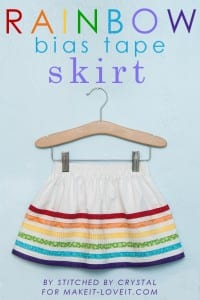 Rainbow Bias Tape Skirt.....perfect for spring!