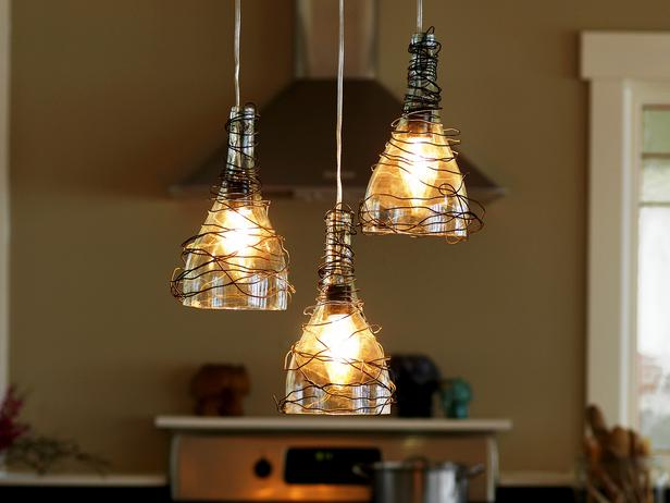 New Bead and Jute Chandelier by Simply Salvage