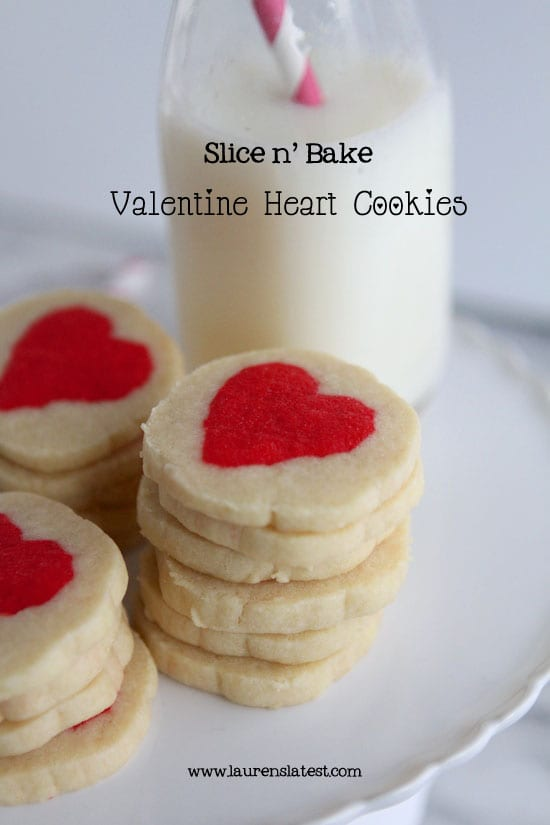 heart slice and bake cookies