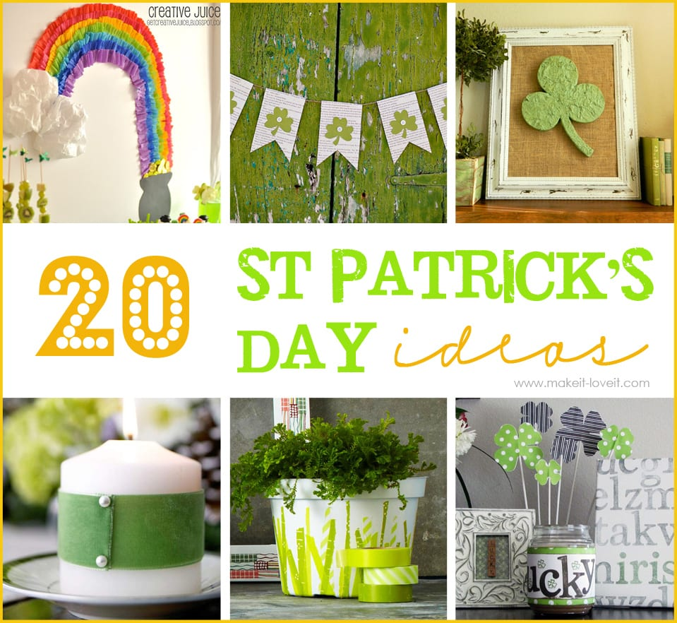 20 DIY St. Patrick's Decor Ideas