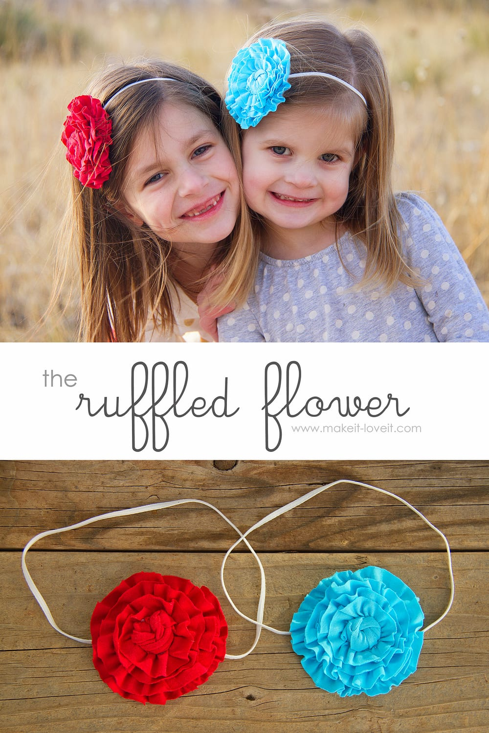 The Ruffled Flower…..for headbands, clothing, totes, etc.