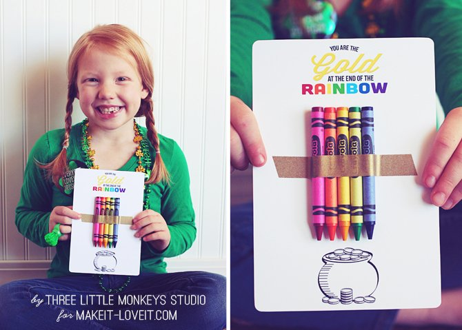 St. Patrick's Day Rainbow Coloring Page PRINTABLE....quick and easy! --- Make It and Love It