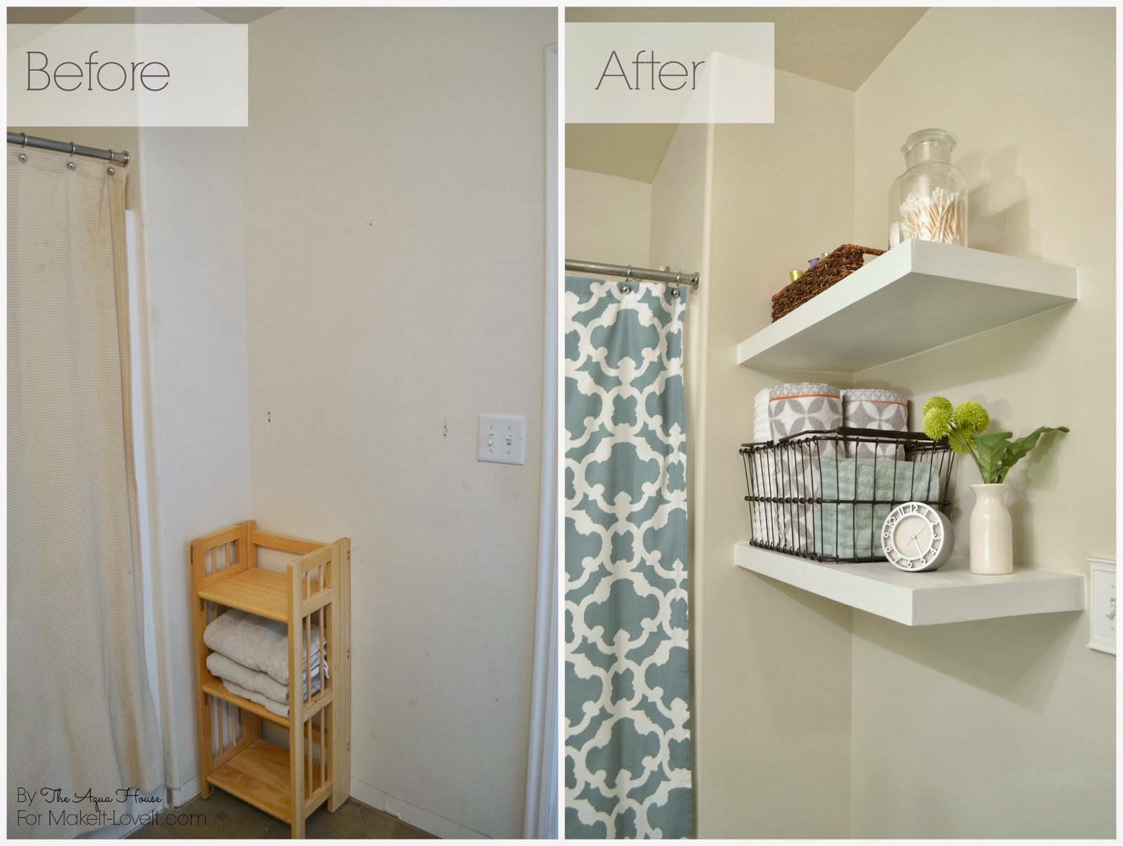 DIY Floating Shelves...a great storage solution! --- Make It and Love It