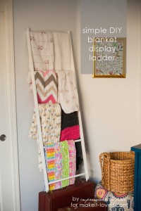 DIY Blanket Storage Display Ladder