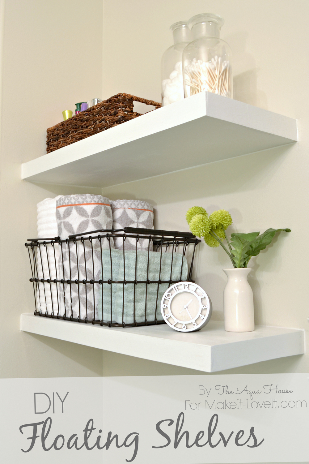 Diy floating shelves a great storage solution for Great storage