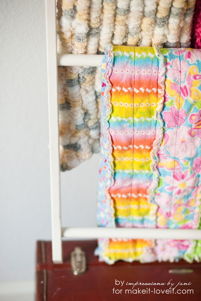 DIY blanket ladder from impressions by jani for Make It and Love It
