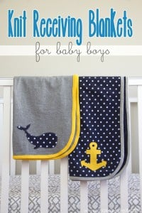 Knit Receiving Blankets for BABY BOYS! (templates included...)